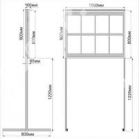 Размеры стенд с дверцей СУ3
