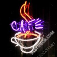 Неоновая вывеска для кафе