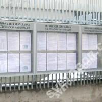 Стенд информации для посольства Польши